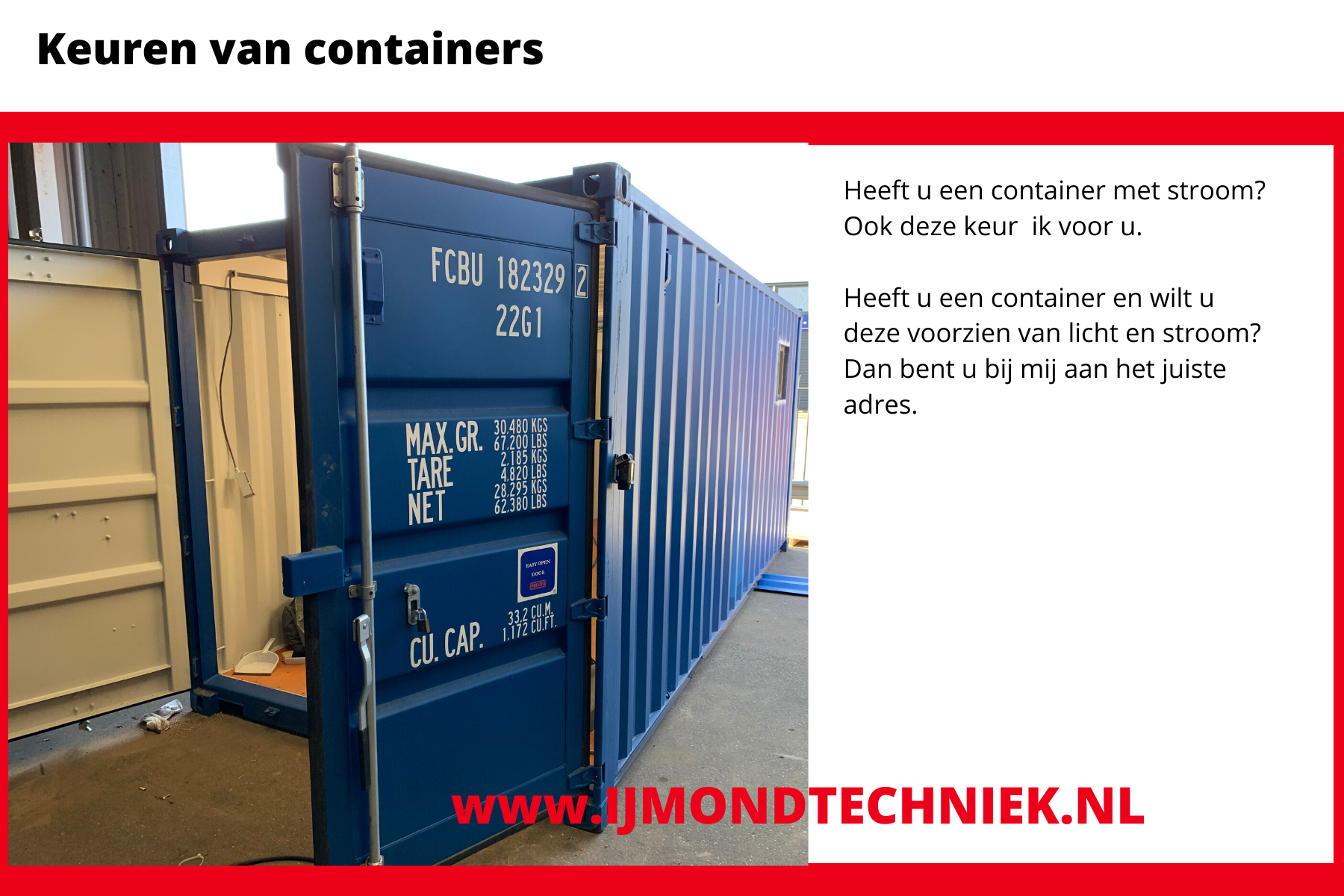 Container keuring